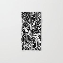 Black White Floral Minimalist Hand & Bath Towel