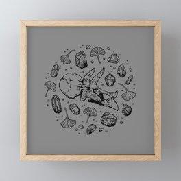 Triceratops Rocks!   Black Framed Mini Art Print