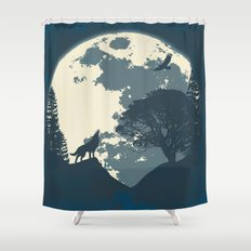 Monotoned Night Time... Shower Curtain