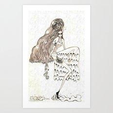 Christmas frost Art Print