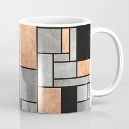 Random Pattern - Concrete and Copper Coffee Mug