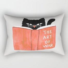 Cat reading book Rectangular Pillow