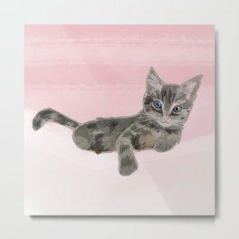 Pink Kitten - Pet Portrait Metal Print