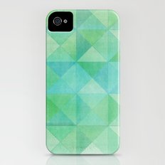 Green/Blue : Pattern iPhone (4, 4s) Slim Case