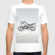 RT-1200 (Dad's Ride) White Mens Fitted Tee MEDIUM