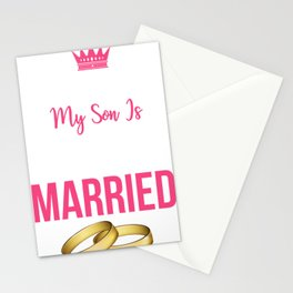 I Cant Cannot Keep Calm My Sonis Getting Married Shirt Stationery Cards