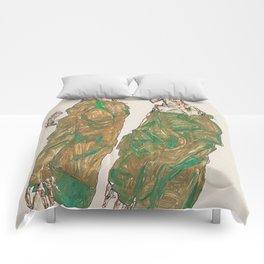 Egon Schiele Devotion Comforters