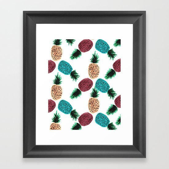 Weird Pineapples Framed Art Print