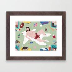 Sexy Bachelor Pattern Framed Art Print