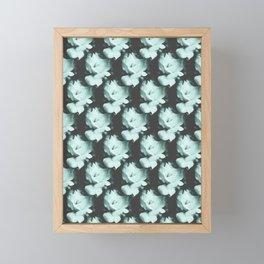 Roses Monochrome Pattern Framed Mini Art Print