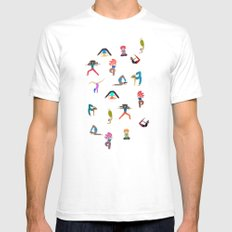 yoga lovers LARGE Mens Fitted Tee White