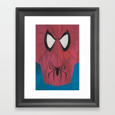 Minimal Spiderman Framed Art Print