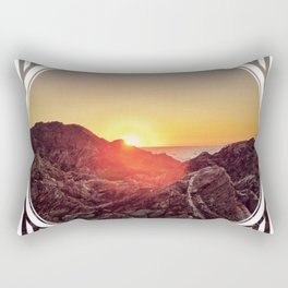 Peel Sunset  - line/circle graphic Rectangular Pillow
