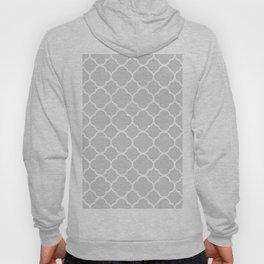 Gray & White Quatrefoil Hoody