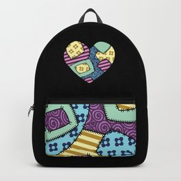 Patchwork heart Backpack