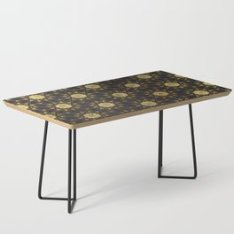 Islamic decorative pattern with golden artistic texture Coffee Table