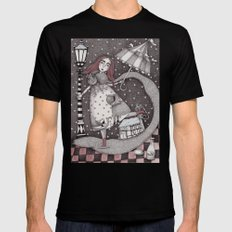 Alice's First Snow Black X-LARGE Mens Fitted Tee