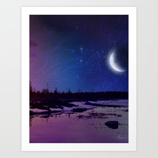 Night - From Day And Night Painting Art Print