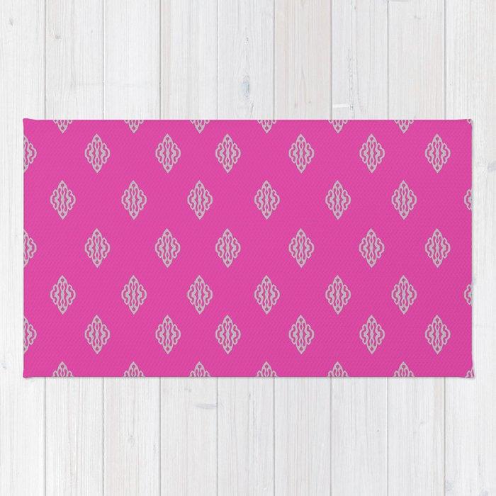 Pattern I Pink/Gray Rug