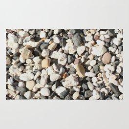 Seaside Beach Pebbles Pattern Rug
