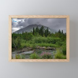 Alaskan Summer Rain Clouds, Kenai_Peninsula Framed Mini Art Print
