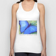 Blue Butterfly: Transfiguration Unisex Tank Top