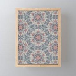 Flower Tiles Framed Mini Art Print