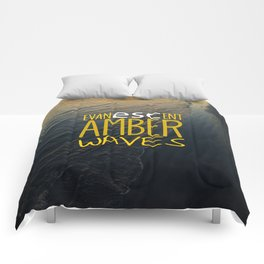 Evanescent Escape ~ Amber Waves Comforters