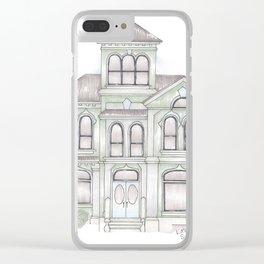 Green Italianate Victorian Clear iPhone Case