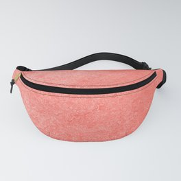 Living Coral - Color of the year 2019, Millennial Pink Grunge Ombre Pastel Texture Fanny Pack