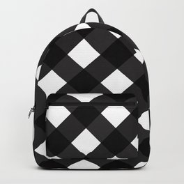 Contemporary Black & White Tilt Gingham Pattern - Mix & Match With Simplicty Of Life Backpack
