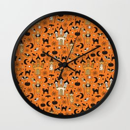 Halloween Witch House Wall Clock