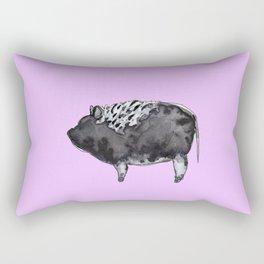 BUGSY in purple Rectangular Pillow