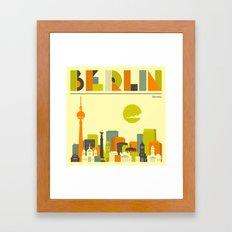 BERLIN SKYLINE Framed Art Print