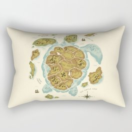 Turtle Island Rectangular Pillow