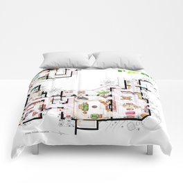 Beach House of Charlie Harper from TAAHM Comforters