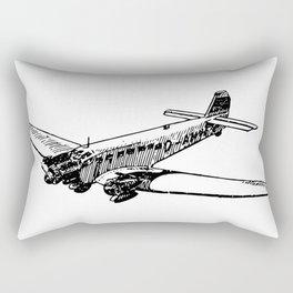 Old Airplane Detailed Illustration Rectangular Pillow