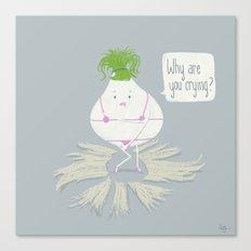 Self-Conscious Onion Canvas Print