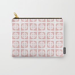 Mid Century Modern Pattern 272 Dusty Rose Carry-All Pouch