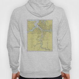 Norfolk VA, Porstmouth VA & Elizabeth River Map Hoody