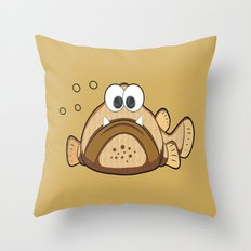 Fisch Opa Eddi Throw Pillow