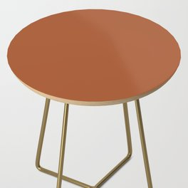 Clay Solid Deep Rich Rust Terracotta Colour Side Table
