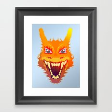 Flaming Dragon Framed Art Print