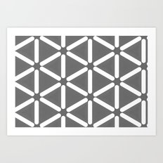 Wildeman Grey Pattern Art Print