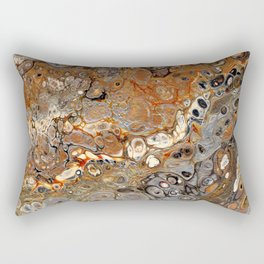 Earth Tones Lava Flow Rectangular Pillow