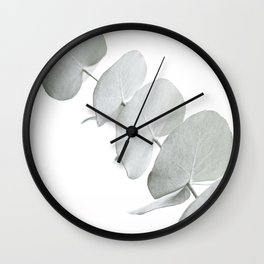 EUCALYPTUS WHITE 3 Wall Clock
