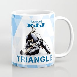 Blue Bjj Triangle choke. Jiu-jitsu grappling Coffee Mug