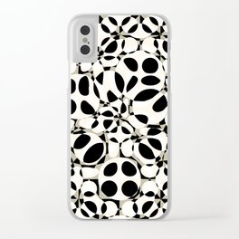black and white circles in squares Clear iPhone Case