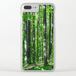 Spring forest Clear iPhone Case
