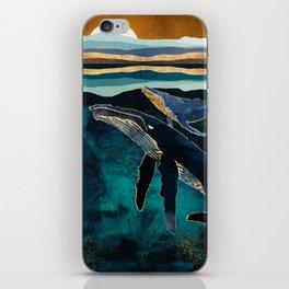 Moonlit Whales iPhone Skin